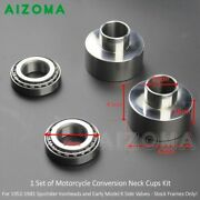 Motorcycle Conversion Neck Cup Kit For Harley Sportster 7/8 To 1 Front Ends