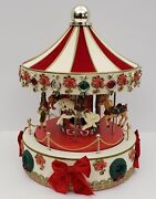 Christmas Carousel - Lights And Music - 17 - Red And White - Unique