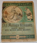 1879 Illustrated Metamorphosis Book Old Mother Hubbard Magical Changes - Lithos