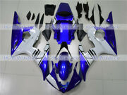 Fairing Blue White Abs Injection Mold Fit For Yamaha 03-05 Yzf R6 06-09 R6s Z04