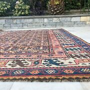 Antique Handmade Vintage Luri Tribal Carpet Area Rug 7and03911and039and039 X 4and0396and039and039