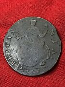 1751 Crude George Ii Simian Non-regal Colonial Rare Halfpenny Us Strong J For 1