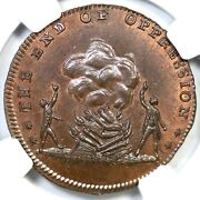1790and039s Dandh-824a Ngc Ms 65 Bn Gr. Brit Middlesex - Spenceand039s Conder Token 1/2p