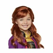 Disney Frozen 2 Anna Wig 18 Long Flowing Red Hair With Braid Detail For Gir...