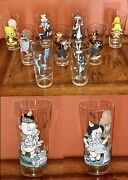 Set Of 9 1973 And 1 1976 Pepsi Looney Tunes Collector Series Glasses Warner Bros