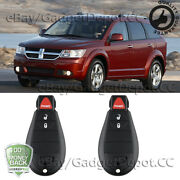 2x Remote Key Fob Replacement M3n5wy783x Ku000028 For Dodgejourney2009 -2013