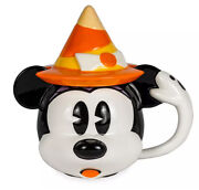 Disney Halloween 2020 Minnie Mouse Witch Mug With Lid - Candy Corn Mickey Mouse