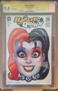 Cgc 9.8 Sdcc Exclusive Harley Quinn 17 Signed Amanda Conner Jimmy Palmiotti