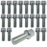 20 Extended Wheel Bolts Ball Seat M12x15 50mm For Audi Mercedes-benz Smart Vw .