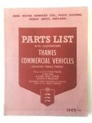 Ford Motor Company Parts List With Illustrations Thames Commercial Vehicles 1949