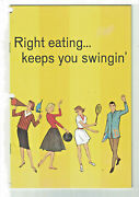 Booklet Right Eating Keeps You Swinging Carnation Company Los Angeles 1964 P23