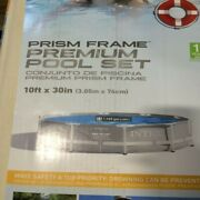 Intex 10ft X 30in Prism Frame Premium Pool Set With Filter And Pump - Ships Free