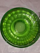 Federal Glass 4pc Dishes Saucers Vaseline Glass Uranium