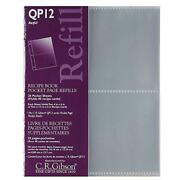 Cr Gibson Qp-12 Small Recipe Book Pocket Page Refill 20 Sheets