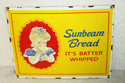 Sunbeam Bread Vintage Style Porcelain Signs Country Store Advertising Man Cave .