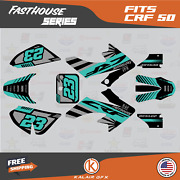 Graphics Kit For Honda Crf50 2004-2012 Or 2013-2021 Crf 50 Fh- Teal