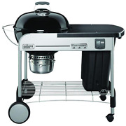 22 In. Performer Premium Charcoal Grill In Black With Built-in Thermometer And D