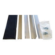Rodent Block Garage Door Bottom Seal Kit With L-shaped 1-3/8 In. Aluminum Retain