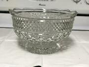 Wexford Anchor Hocking Pressed Glass 10 Large Fruit Bowl 2 1/2 Quarts, 10 Cups