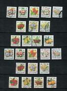 Lebanon Liban Collection Of Used Set Fruits And Flowers Stamp Lot Leb 73
