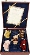Steiff British Collectors Uk Baby Bear Set 1994-1998 Retired And Very Collectable