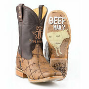 Tin Haul Boots Tin Haul Mens Dont Fence Me In Sq Toe Boots