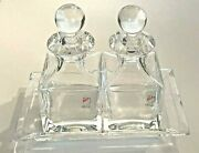 Colle Oil And Vinegar Dispenser With Tray Crystal New