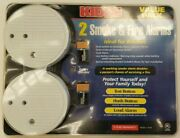 Kidde Smoke And Fire Alarms, Two, 9 Volt Operated, New