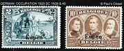 Germany Belgian Occupation Eupen Issue 1920 Sc 1n39 And 1n41 2f And 10f Mlh Og Fvf