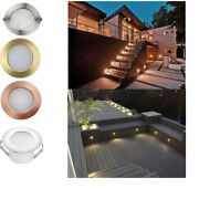 1-50pcs 47mm Led Deck Step Lights Outdoor Yard Stair Lamp Low Voltage Warm White