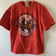 Rare Vintage 70s 80s Cock Fighters Guam Motorcycle Trucker Travel T Shirt M