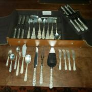 69 Piece S. Kirk And Son Sterling Silver Repousse Flatware Service For 12 Mono'd L