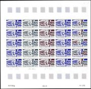 Wallis And Futuna C114 Aviation. Full Sheet Color Proofs. Very Rare Vf Mint