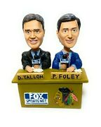Pat Foley And Dale Tallon Nhl Chicago Blackhawks Broadcaster Bobbleheads - New