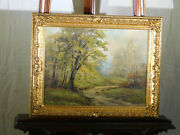 Ruth Bernice Anderson Listed Artist Original Oil On Canvas Indiana Landscape
