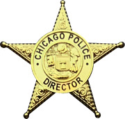 Chicago Police Department Star Lapel Pin Director
