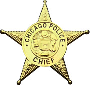 Chicago Police Department Star Lapel Pin Chief