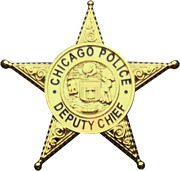 Chicago Police Department Star Lapel Pin Deputy Chief