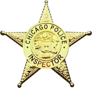 Chicago Police Department Star Lapel Pin Inspector