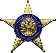 Chicago Police Department Star Lapel Pin First Deputy Superintendent