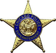Chicago Police Department Star Lapel Pin Superintendent
