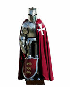 Medieval Custom Wearable Knight Suit Crusader Templar Full Suit Of Armor Costume