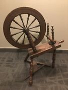 Antique Pa Farmhouse Spinning Wheel Large 20 Wheel Wood 1800s With Foot Peddle
