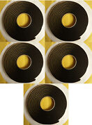 Qty 5 Butyl Tape 3m 1/4x15ft Ribbon Sealer For Cars Window-weld 75and039 Total