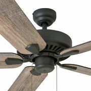 Rustic Ceiling Fan With Remote Low Profile Mount Farmhouse Wood Blades Bronze 52