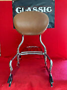 Indian Motorcycle Passenger Backrest W/ Tan Pad And Luggage Rack Chief Vintage H2