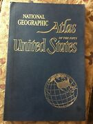 Vintage National Geographic Atlas Of The United States -national Parks Info 1960