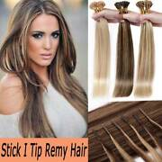 Thick Stick I Tip Micro Ring Bead 100 Remy Human Hair Extensions 1g Straight Us