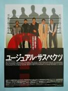 The Usual Suspects 1995 Japan B5 Mini Poster Flyer Chirashi Bryan Singer Ex