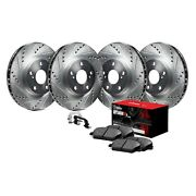 For Chevy Silverado 1500 99-03 Brake Kit Eline Series Drilled And Slotted Front And